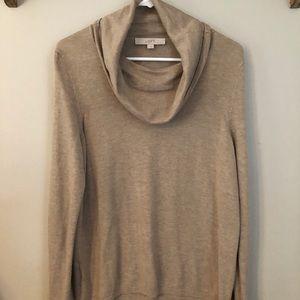 Loft lightweight cowl sweater